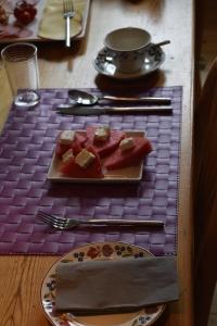 Watermelon and feta - surprisingly yum!