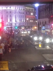 Craziness at Piccadilly Circus
