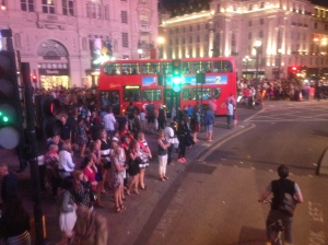 Piccadilly Circus insanity!