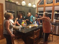 More family time...in the kitchen, of course!