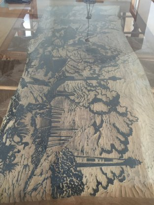Our amazing dining room table - it's a stamp!